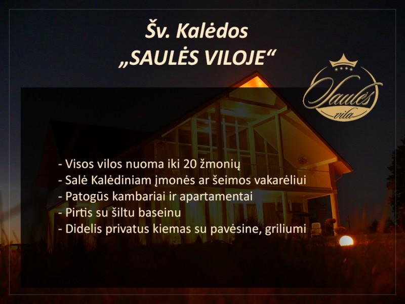 Vilos-namo nuoma Kalėdinei šventei Palangoje