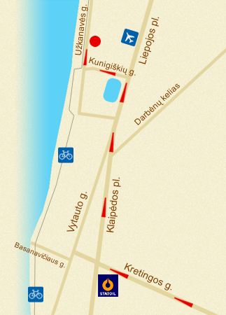 Map-scheme - Palanga, Lithuania
